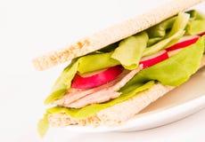 Сандвич Crispbread Стоковое Изображение RF