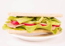 Сандвич Crispbread Стоковое Фото