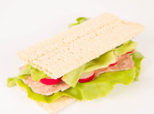 Сандвич Crispbread Стоковая Фотография RF