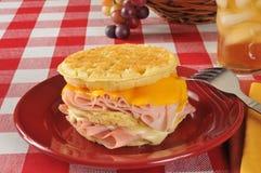 Сандвич Monte Christo на waffle Стоковая Фотография RF