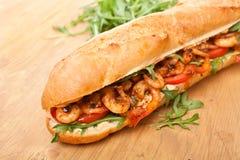 Сандвич Po-мальчика креветки стоковое изображение rf