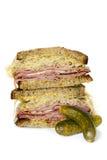 Сандвич Reuben изолированный на белизне Стоковое фото RF
