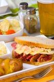 Сандвич Reuben дня St Patricks Стоковая Фотография RF