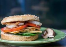 Сандвич Vegan в плюшке гамбургера Стоковые Фотографии RF