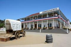 Сан-Диего, Калифорния, США - 1-ое июля 2015: Старая деревянная гостиница в историческом городе Сан-Диего Стоковое Фото