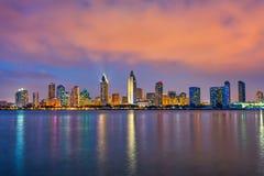 Сан-Диего на ноче стоковое фото rf