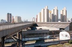 Сан-Паулу, жилой район бюстгальтеров и Mooca Стоковое фото RF