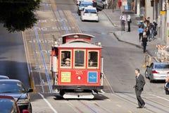 Сан Франсиско-США, трамвай фуникулера Стоковая Фотография