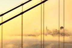 Сан-Франциско в тумане утра Стоковое Фото