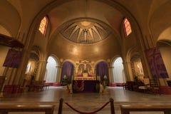 Сан-Франциско, Калифорния - 10-ое марта 2018: Интерьер церков базилики полета Сан-Франциско de Asis Стоковые Фотографии RF