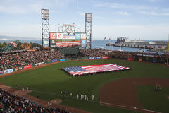 Сан-Франциско, Калифорния, США, 16-ое октября 2014, AT&T паркует, бейсбольный стадион, SF Giants против кардиналов Сент-Луис, нац Стоковые Изображения