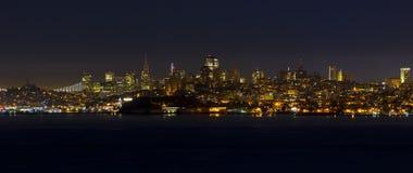 Сан-Франциско на ноче стоковое фото