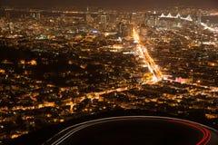 Сан-Франциско от Башен Близнецы Стоковое Изображение RF