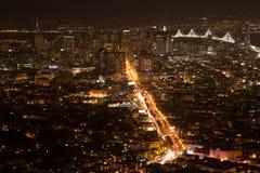Сан-Франциско от Башен Близнецы стоковые фотографии rf
