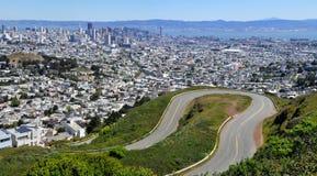 Сан-Франциско увиденный с Hights двойных пиков Стоковые Фотографии RF