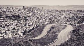 Сан-Франциско увиденный с Hights двойных пиков Стоковое фото RF