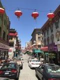 Сан-Франциско Чайна-таун на ясный день Стоковые Фото