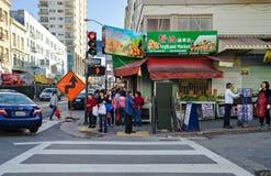 Сан-Франциско, CA, США - март 2016: Дневное время на Чайна-тауне Стоковое фото RF