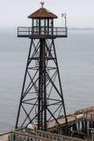 САН-ФРАНЦИСКО, CALIFORNIA/USA - 7-ое августа: Тюрьма Alcatraz близко стоковое фото rf