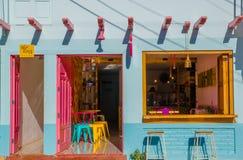 Сан-Хуан del Sur, Никарагуа - 11-ое мая 2018: Закройте вверх мороженого ремесленника в ресторане, в Хуане del Sur, Никарагуа Оно Стоковые Изображения
