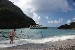 Сан Fruttuoso, между Golfo Paradiso и Golfo del Tigullio стоковое фото