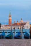 Сан Giorgio Maggiore и гондолы, Venezia Стоковое Изображение