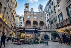 Сан Pietro в церков Banchi, Генуе, Италии стоковые фото