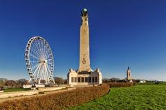 Сапка Plymouth, памятник войны стоковые фотографии rf