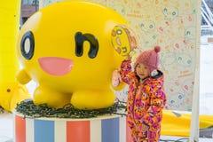Саппоро, Япония - февраль 2017: 68th фестиваль снега Саппоро на парке Odori стоковые фотографии rf