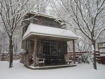 Сарай зимы Стоковое Изображение RF