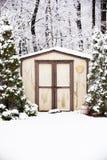 Сарай зимы Стоковое Фото