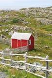сарай красного цвета стоковое изображение rf