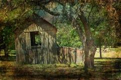 Сарай планки страны холма Техаса деревянный Стоковые Фото