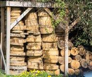 Сарай древесины Стоковые Изображения