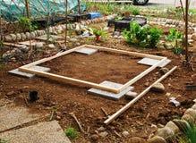 сарай сада подготовленный землей Стоковое Фото