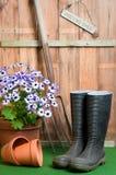 сарай potting стоковая фотография rf