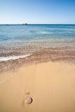 Сардиния - вода и песок Стоковые Изображения