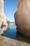 Сардиния - утесы и море Стоковые Фотографии RF