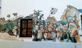 Сардиния, Orgosolo, настенная живопись Стоковые Изображения