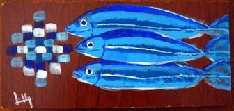 Сардины на борту стоковые изображения rf