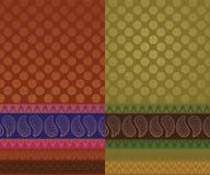 сари индейца конструкции Стоковые Изображения RF