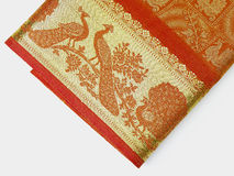 сари красного цвета граници Стоковая Фотография RF