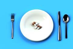 Саркастическое изображение диеты иллюстрация вектора