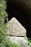 Саркофаг, бенедиктинский монастырь Abu Ghosh, Израиля Стоковые Изображения RF