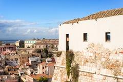 Сардиния, Кальяри, панорама Стоковые Изображения