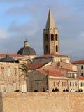 Сардиния Alghero Взгляд старой город-крепости Стоковое Изображение