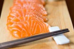 Сасими, семга, японская еда Стоковые Фотографии RF