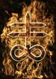 Сатанинский крест Стоковые Фото