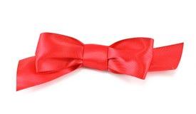 сатинировка красного цвета смычка Стоковые Фото