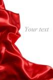 сатинировка красного цвета ткани Стоковое Изображение
